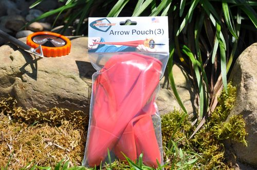 3 Red Arrow Pouches for slingshot Pocket-Shot